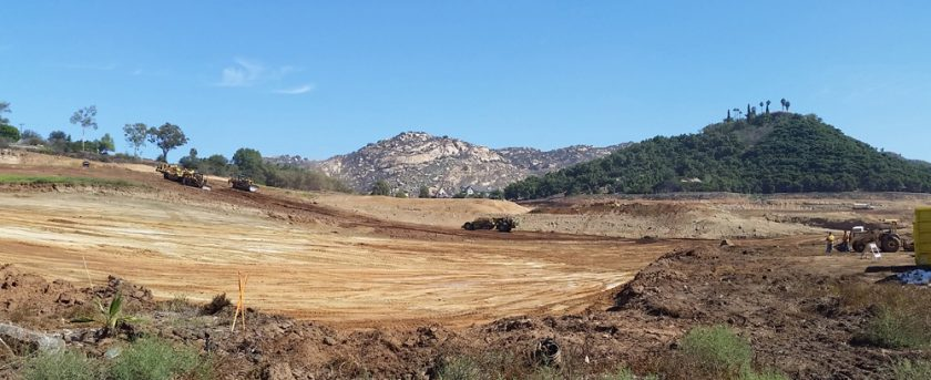 Site work in Escondido for Shea Homes's new single family home communities. Heritage Collection at Canyon Grove and The Estates at Canyon Grove.