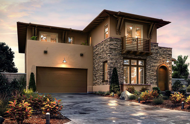 New homes in Pacific Highlands Ranch. Sterling elevation.