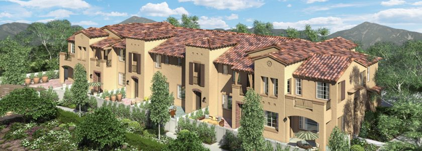New homes and townhomes in Carlsbad. Agave at the Preserve. 88 New townhomes. Picture of Agave.