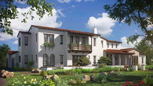 New homes in Del Sur & San Diego at Artesian Estates. Picure of plan 2x exterior.