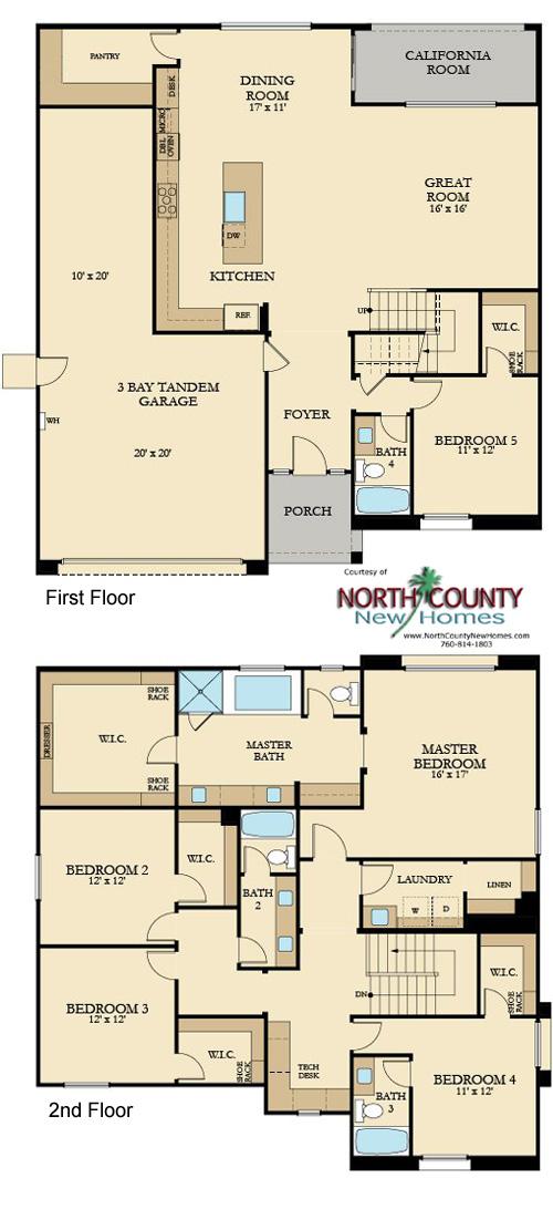 Presidio New Homes In Vista Floor Plans