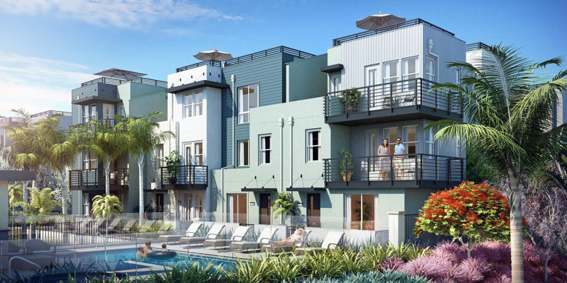 New Townhomes in Oceanside at Vista Del Mar. New construction homes near the coast and beaches. Oceanside new homes for sale.