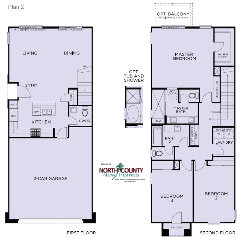 3 Floor Plans Blue Sage At The Preserve North County