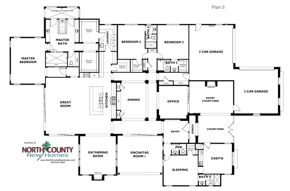 One Oak Floor Plans New Homes In Encinitas Ca North County New Homes