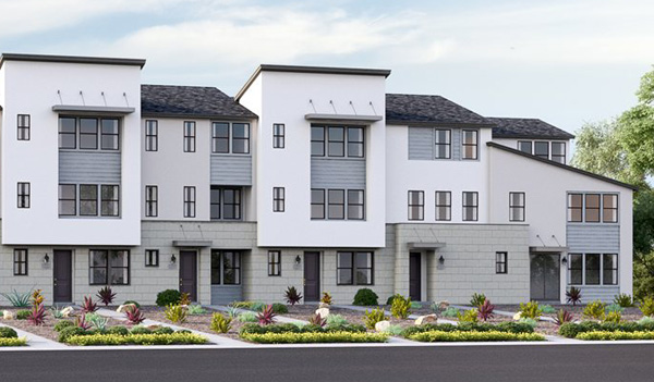 Skye. New townhomes, rowhomes in Del Sur. San Diego and Del Sur new homes. New construction homes.