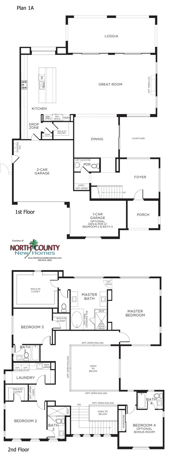 Carmel Floor Plan 1 | Pacific Highlands Ranch - San go Homes on house with a great room floor plans, house with garage apartment floor plans, house with open concept floor plans,