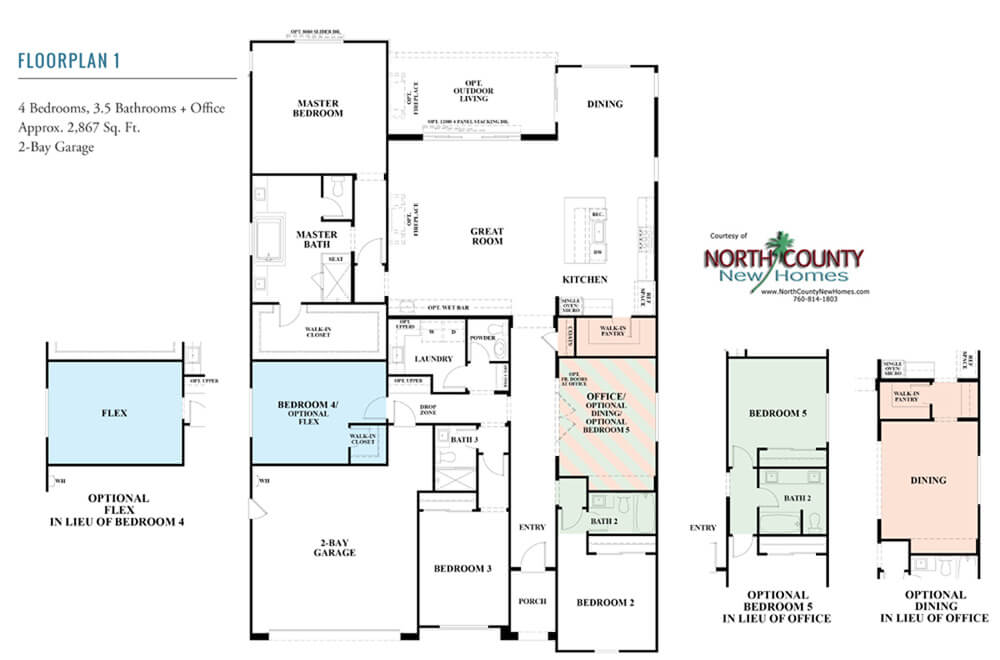 12 Pacific Single Story New Homes In