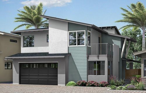 New homes in Leucadia - Encinitas, CA. 4 new single family homes 1 block from the beach. 2 story homes with entry level bedroom and bathroom. New construction homes in North County San Diego