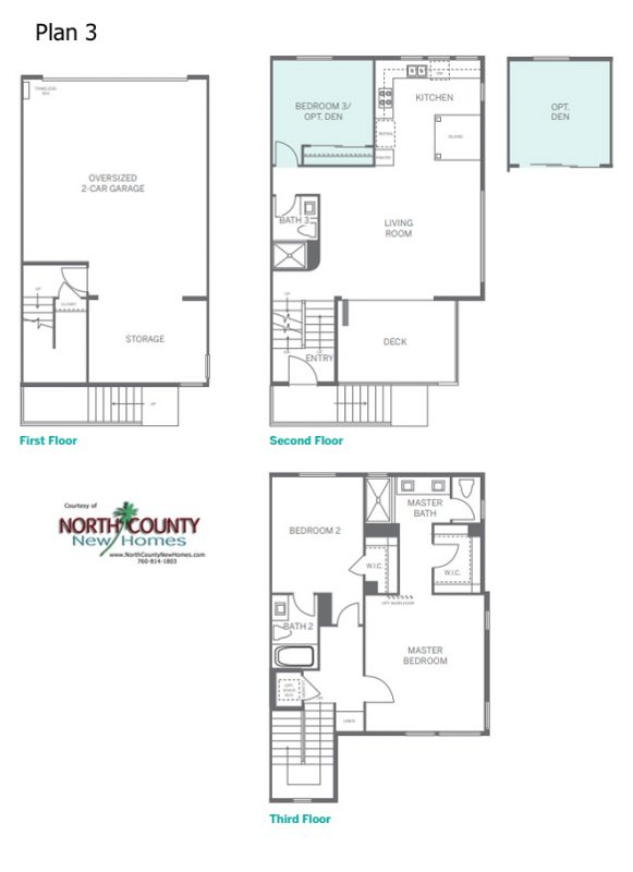 Anden Floor Plans. 3 floor plans of new townhomes in San Marcos, CA. New construction homes and townhomes for sale in San Diego North County