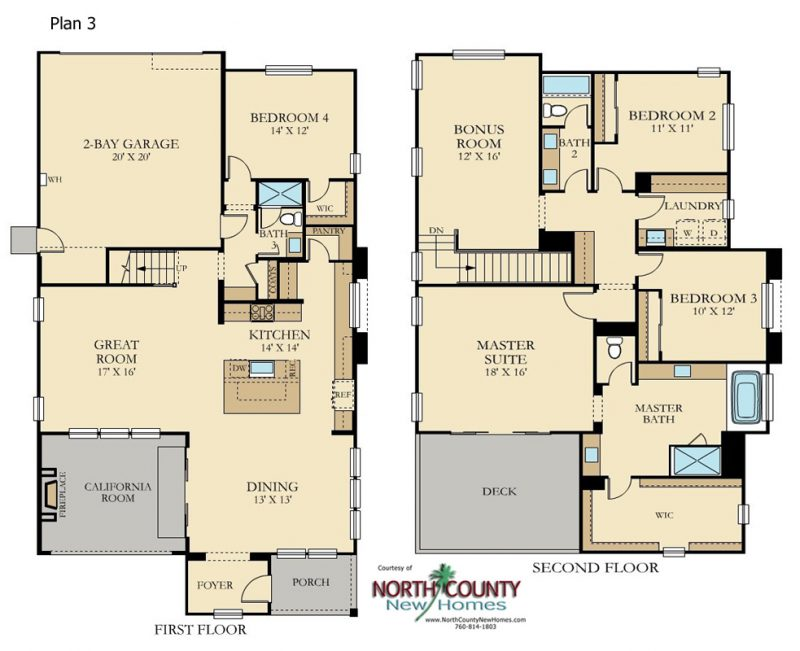 Cavalli New homes in Harmony Grove Village, Escondido, CA. New construction single family homes. North County San Diego. 6 floor plans