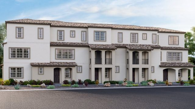 New townhomes in Oceanside. The Collection at Saint Cloud. Oceanside new homes. 3 story new construction townhomes in gated community. San Diego North County.
