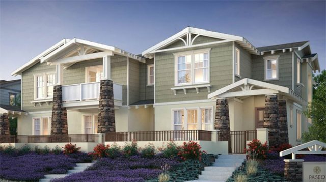 Paseo Village, New homes in Ramona, CA. North County San Diego. New construction townhomes.