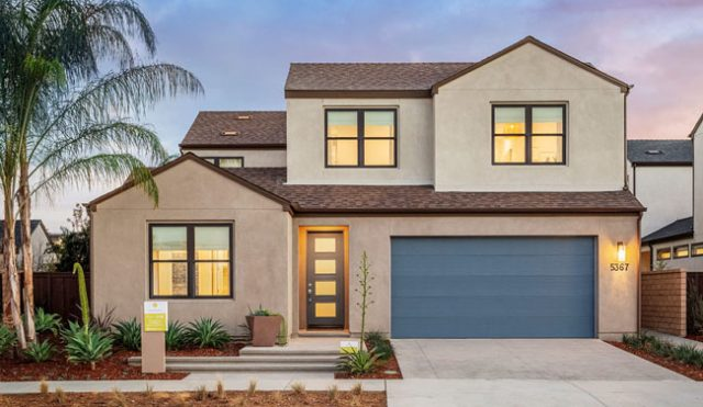 Sendero New homes in San Diego and Pacific Highlands Ranch. New construction homes in North County San Diego. Single family homes for sale in Carmel Valley. Exterior Plan 2