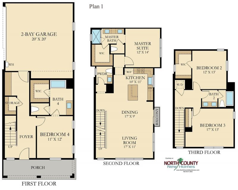 Collection Floor Plans. The Collection at Saint Cloud. New homes in Oceanside, CA. New construction homes and townhomes in North County San Diego. Gated community.