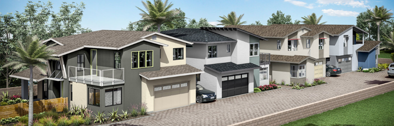 Leucadia new homes and Encinitas new homes. New construction in San Diego North County. 1 block from the beach. Walk to the beach.