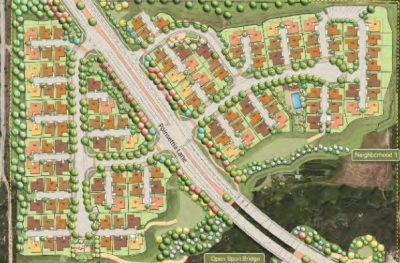 New homes in Carlsbad. Poinsettia 61 site plan for 123 new detached single family homes.